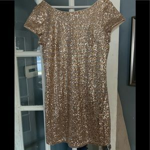 White House Black Market Metallic Sequined Dress